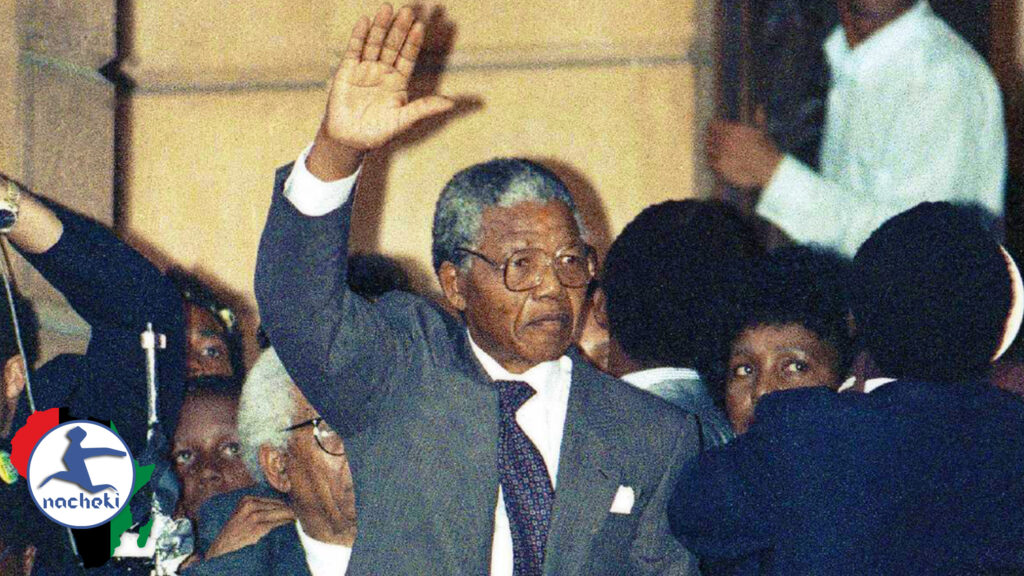 African Legend Nelson Mandela First Speech Following his Release from Prison