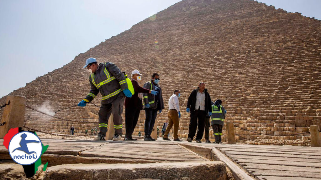 Africa Protects its Heritage as Giza Pyramids Disinfected Amid Covid-19 Lockdown