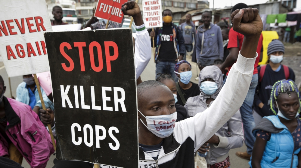 'Never again': Protesters march against Kenyan police brutality