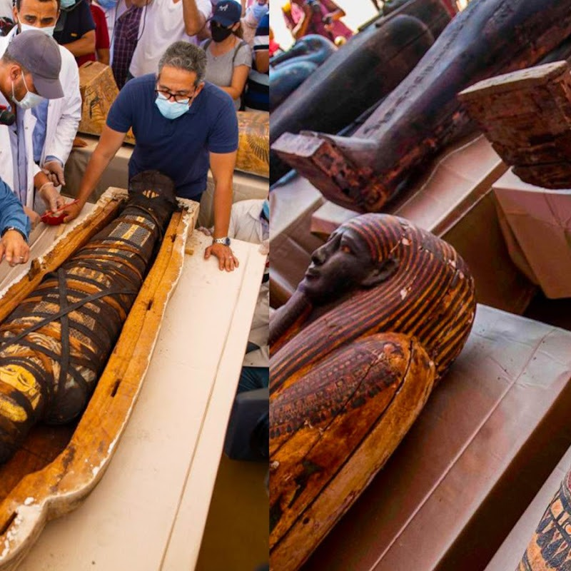 Egypt Unearth 59 New Ancient African Coffins Watch What Happens When they Open One