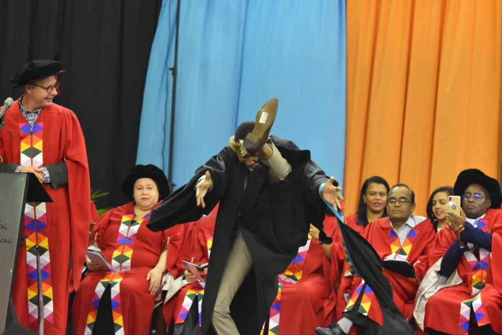 African Graduate Celebrates with Gravity Defying Traditional Dance