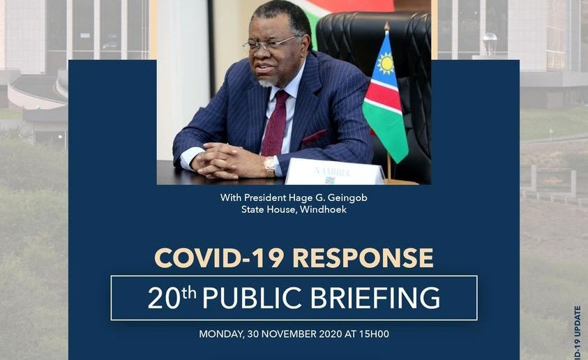 Geingob Urges Namibians to Follow Covid-19 Rules During Holidays
