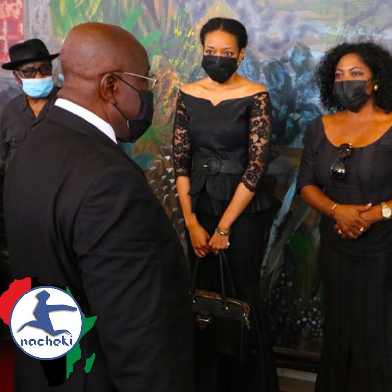 A Sad and Somber Ghanaian President Nana Addo Visits Rawlings Family to Pay Respects