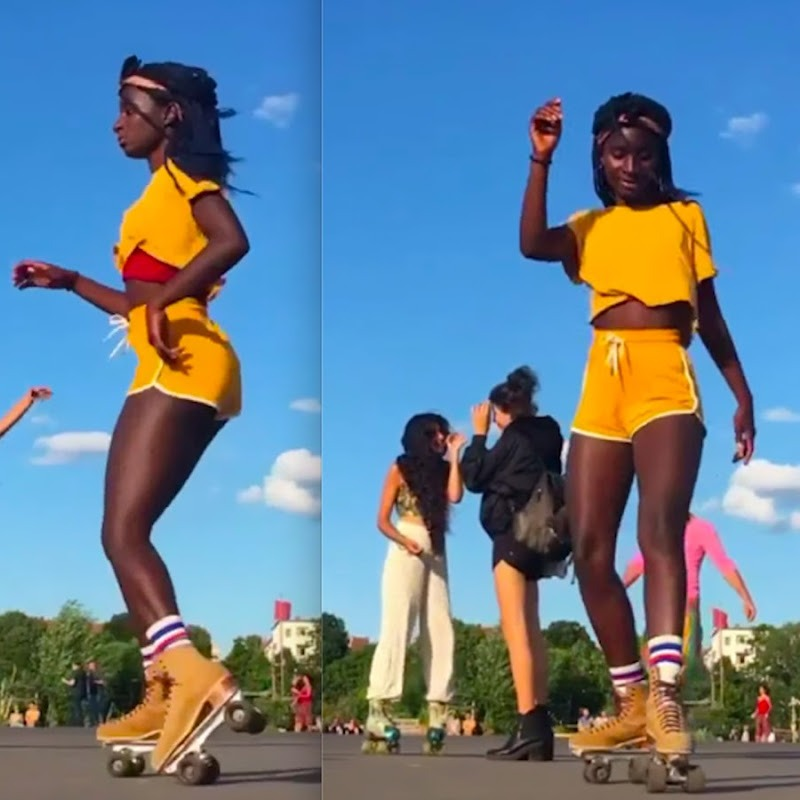 African Skating Goddess Goes Viral with Killer African Dance Moves