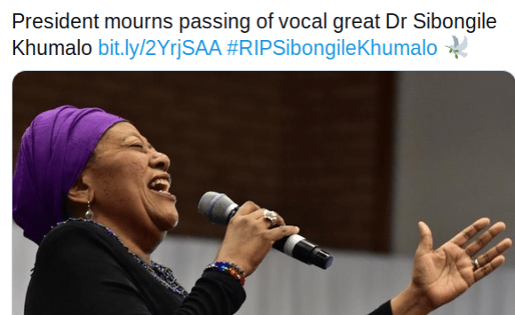 Tributes Pour in for South African Jazz Maestro Sibongile Khumalo