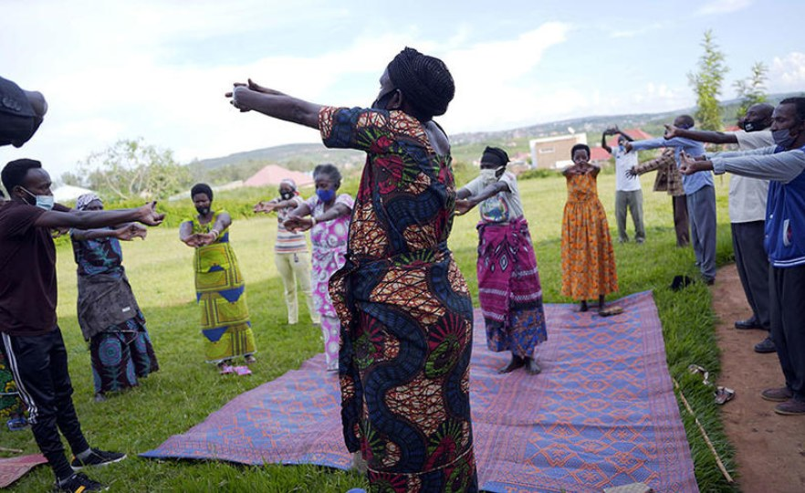 How the Elderly in Bugesera Use Yoga to Tackle Mental Health