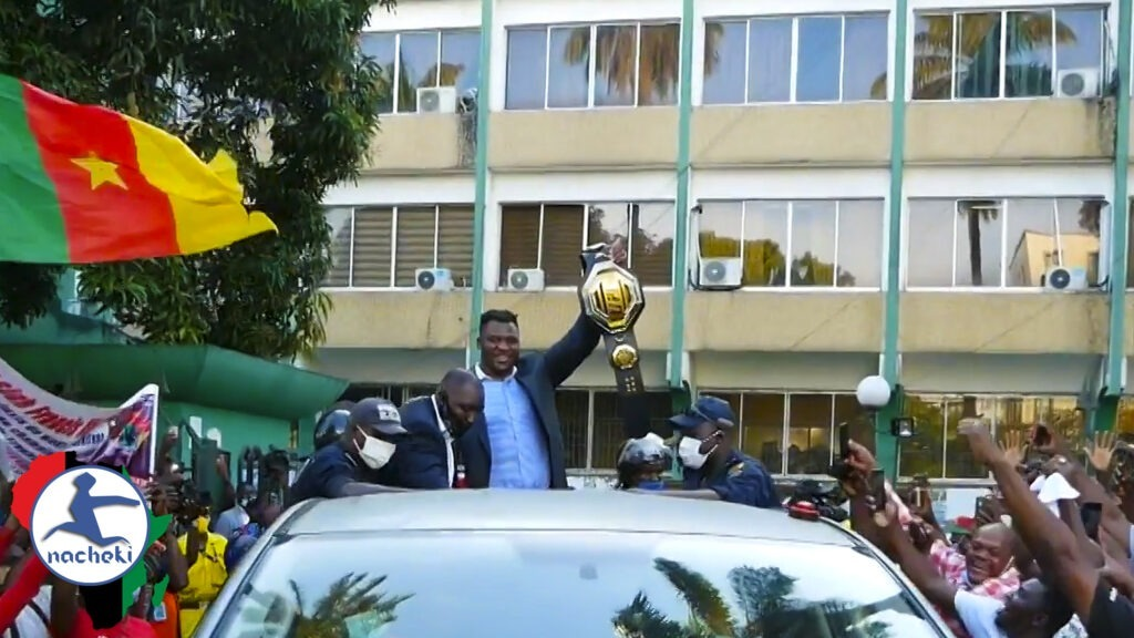 World's Strongest Fighter Francis Ngannou Returns Home to Celebrate UFC Belt with Africa