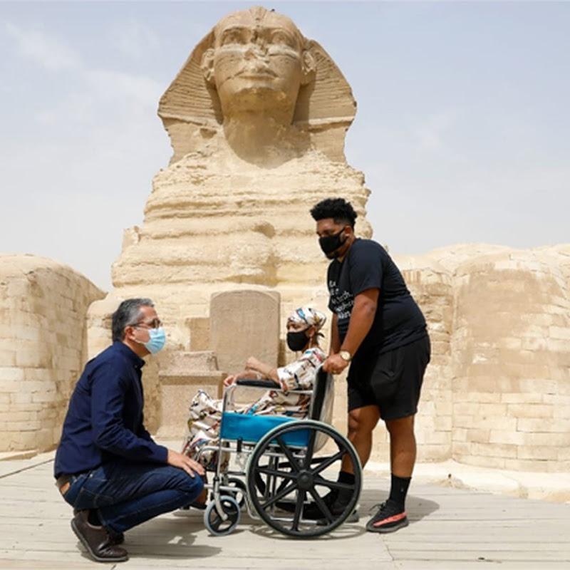 Terminally Ill African American Mother Fulfils Glorious Dream of Visiting Giza Pyramids in Egypt