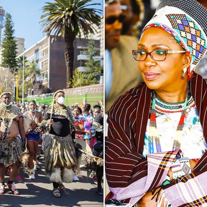 Zulu People of Africa Show the World How to Send off a Royal During Zulu Queen Procession