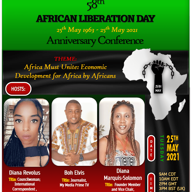 #AfricaDay Event: 58th African Liberation Day Conference: Economic Development for Africa