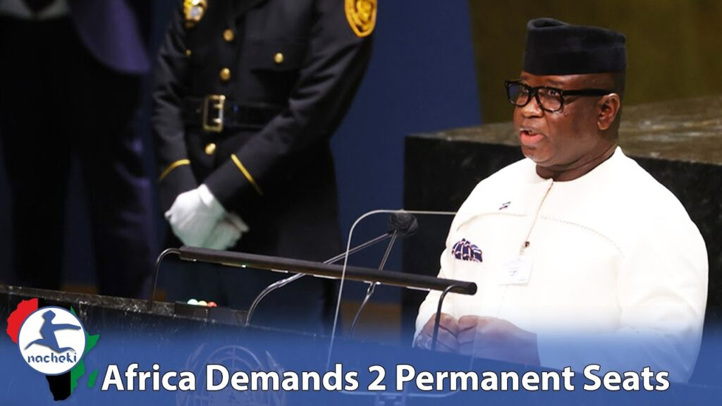 Sierra Leone President Demands Permanent Security Council Seats for Africa at United Nations