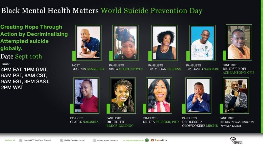 World Suicide Prevention Day creating hope through action by decriminalizing attempted suicide