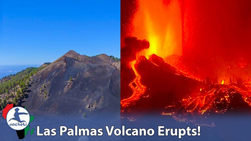 Stunning Video of La Palma Volcano just off the Coast of North Africa Epic Eruption